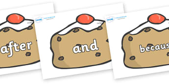 Connectives on Currant Buns - Connectives, VCOP, connective resources, connectives display words, connective displays