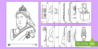 The Victorians Colouring Sheets - Victorians, Queen Victoria, 19th century, colouring, fine motor skills, poster, worksheet, vines, A4, display, British History, Britain, Victorian toys, Victorian school, butler