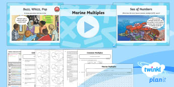 PlanIt Maths Y6 Addition, Subtraction, Multiplication and Division Lesson Pack Common Factors, Multiples and Prime Numbers (2) - Addition, Subtraction, Multiplication and Division, common multiples, lowest common multiple, lcm, m