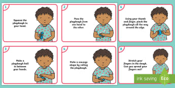 'Playdough Movement Song' Child Activity Cards - Playdough Play, dough disco, finger gym, fine motor skills, physical development