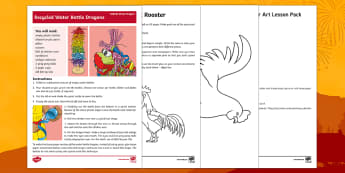 Chinese New Year Art Lesson Pack - Chinese New Year, KS2, Celebration, festivals, rooster, KS2, art, Chinese New Year creativity, Chine