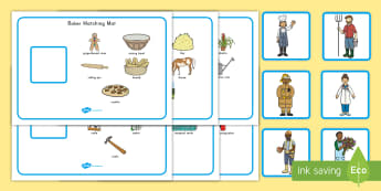 Jobs in the Community Matching Activity Mat - labor day, community helpers, jobs, labor day activity, community helper activity, jobs activity, ac