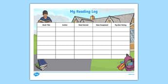 My Reading Log Worksheet / Activity Sheet-Irish, worksheet
