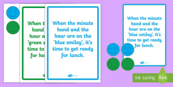 Classroom Clock Tricks Display Pack - time, clock, learning, lunch, home time,Irish