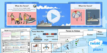 Science: Forces: Balanced and Unbalanced Forces Year 5 Lesson Pack 1