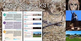 Imagine Anglo-Saxons KS1 Resource Pack - Angle, Saxon, History, Farm, Helmet, King, Sewing, Village