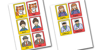 The Tiger Who Came to Tea Guess Who Cards-the tiger who came to tea, guess who, game cards, guess who game, games, activities, puzzles