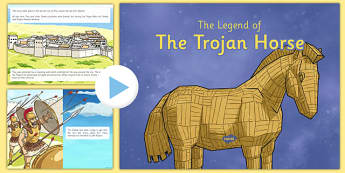 The Legend of the Trojan Horse Story PowerPoint