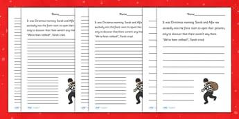 Christmas Story Starter Thief - christmas, xmas, story, starter, story starter, stories, writing, writing stories, thief, story starter about a theif, writing inspiration, literacy, writing aid, creative writing, writing prompt