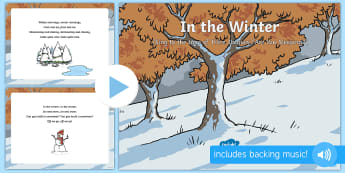In the Winter Song PowerPoint - EYFS, Early Years, Winter, snow, season, cold, frost.
