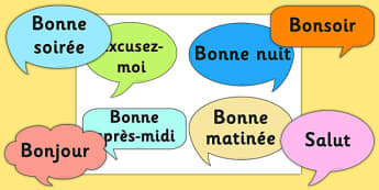 Basic phrases greetings primary resources french social greetings prompt cards french m4hsunfo