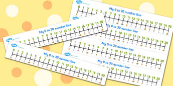 The Lion And The Mouse Number Lines 0-20 - number lines, 0-20