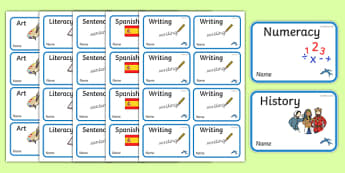 Swallow Themed Book Labels - class, set-up, room name, birds, swallow, animals, ks1, ks2, display,
