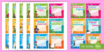 100 Growth Mindset Praise and Encouragement Editable  - Growth Mindset, Personal Growth, Learning Skills, printable Notes, self-esteem