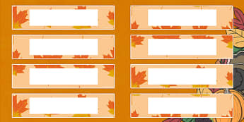 Thanksgiving Tray Labels - label, trays, stickers, thanks, giving