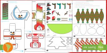 Pack de recursos: Manualidades para Navidad - Navidad, manualidades, manualidad para navidad, la navidad, decoración, modelos de papel, carta a s