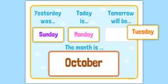 Yesterday, Today, Tomorrow Calendar - yesterday, today, tomorrow, calendar