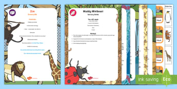 Zoo-Themed Sensory Bin and Resource Pack - zoo, animals, safari park, discovery, sensory play, tuff tray