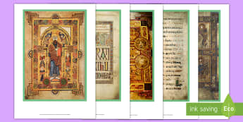 The Book of Kells Display Photos - early christian ireland, monastic, monastery, manuscript, trinity college, dublin, tourism, book of