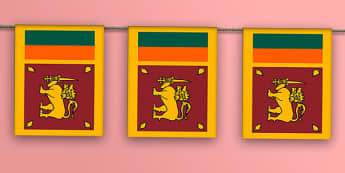 Sri Lanka Flag Bunting - sri lanka, asia, flags, world, countries, global, display, bunting, hang, olympics, rio
