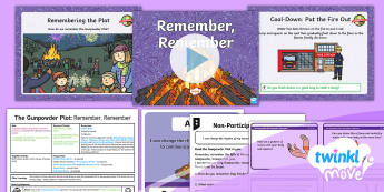 Twinkl Move - Year 2 Dance: The Gunpowder Plot Lesson 6 - Remember Remember - Pe, Physical Education, Key Stage 1, KS1, Year 1, Y1, Year 2, Y2, Warm-Up, Dance, Sport, Exercise, T