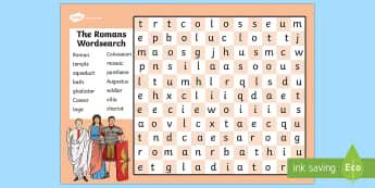 The Romans Wordsearch - romans, roman, history, history games