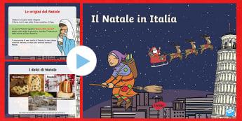 Il Natale in Italia Presentazione Powerpoint - presntazione, natalizio, tradizione, italiano, italian, materiale, scolastico, folklore