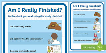 Am I Really Finished? Display Poster - management, finished, work, classroom display, independdnt working