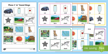 Phase 3 'ar' Sound Bingo Game - Phase 3, phases, Letters and Sounds, bingo, matching game,  literacy, phonics, phas 3, pase 3