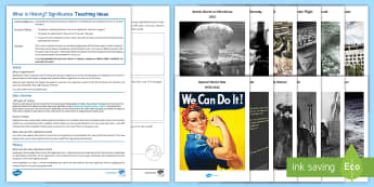 What Is History? Lesson Pack -  Twentieth-century history, chronology, human timeline, year 6, year 7, transition