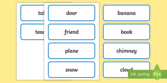 Concrete Nouns Word Cards - teaching nouns, deaf, deaf education, teacher of the deaf, noun vocab, noun visuals, nouns display