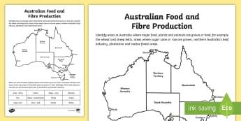 Australian Food and Fibre Production Activity - Australia YR 3 and 4 Design Technology, australian industry, australian agricultural industry, austr