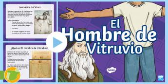Presentación: El hombre de Vitruvio - Leonardo da Vinci - ciencia, geometría, medidas, cuerpo humano, Dibujar, Renacimiento