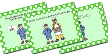 Simple Simon PowerPoint - simple simon, nursery rhymes, nursery rhyme powerpoint, simple simon nursery rhyme, simple simon nursery rhyme powerpoint