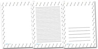 Garden Spade Portrait Page Borders- Portrait Page Borders - Page border, border, writing template, writing aid, writing frame, a4 border, template, templates, landscape