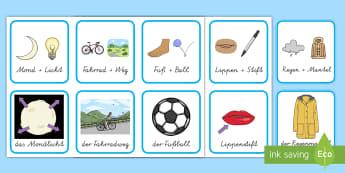 Wortarten Nomen/Namenwörter - Grammatik Wortarten