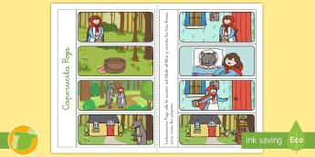 Ficha de actividad: Libro - Caperucita Roja - Cuentos, tradicionales, roja, caperucita, niña, lobo