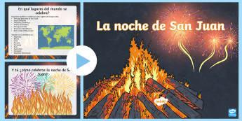Presentación: La noche de San Juan - noche, san juan, powerpoint, geografia, fiesta, evento, celebracion