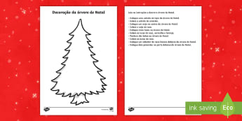 Decorando a árvore de Natal, leitura e compreensão - natal, natais, celebraçao, festa, natividade, solsticio de inverno, inverno, pai natal, papai noel,