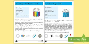 Wetter Wolken Papiermodell -  Frühling, Wetter, Kindergarten und Vorschule ,Regen, Regenbogen,,German