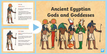Egyptian Gods PowerPoint - egyptian gods, egypt, ancient egypt, ancient egypt powerpoint, egyptian gods information powerpoint, gods and goddesses, history