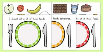 Healthy Eating Sorting Activity - health, healthy food, food