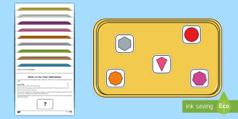What's on the Tray 2D Shapes Memory Activity Pack - deaf education,  guidance, hearing impaired