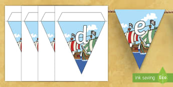 Pirate Themed A Z Bunting - A-Z Bunting, pirate themed, pirate themed bunting, A-Z pirate themed, alphabet pirate themed, alphabet bunting, alphabet buntin