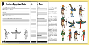 Ancient Egyptian Gods Differentiated Reading Comprehension Activity - osiris, belief, ra, goddess, ancient