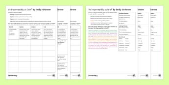 'As Imperceptibly as Grief' by Emily Dickinson Analysis Activity Sheets - KS4, Poetry, Dickinson, Grief, Literature