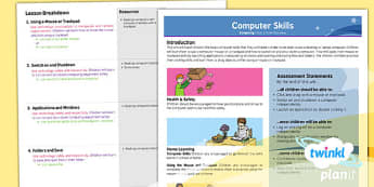 Computing: Computer Skills Year 1 Planning Overview