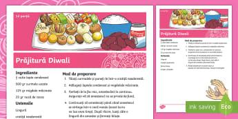 Prăjitură Diwali Rețetă - rețete de prăjituri, activități culinare, activitate, tradiții, ,Romanian