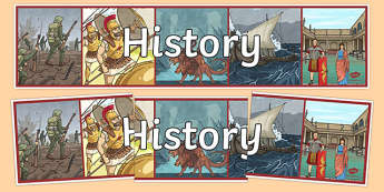 History Display Banner - history display banner, history, past, old, subject, World War, Victorians, Vikings, queens, kings