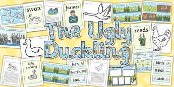 Ugly Duckling Story Sack - ugly duckling, story, sack, pack